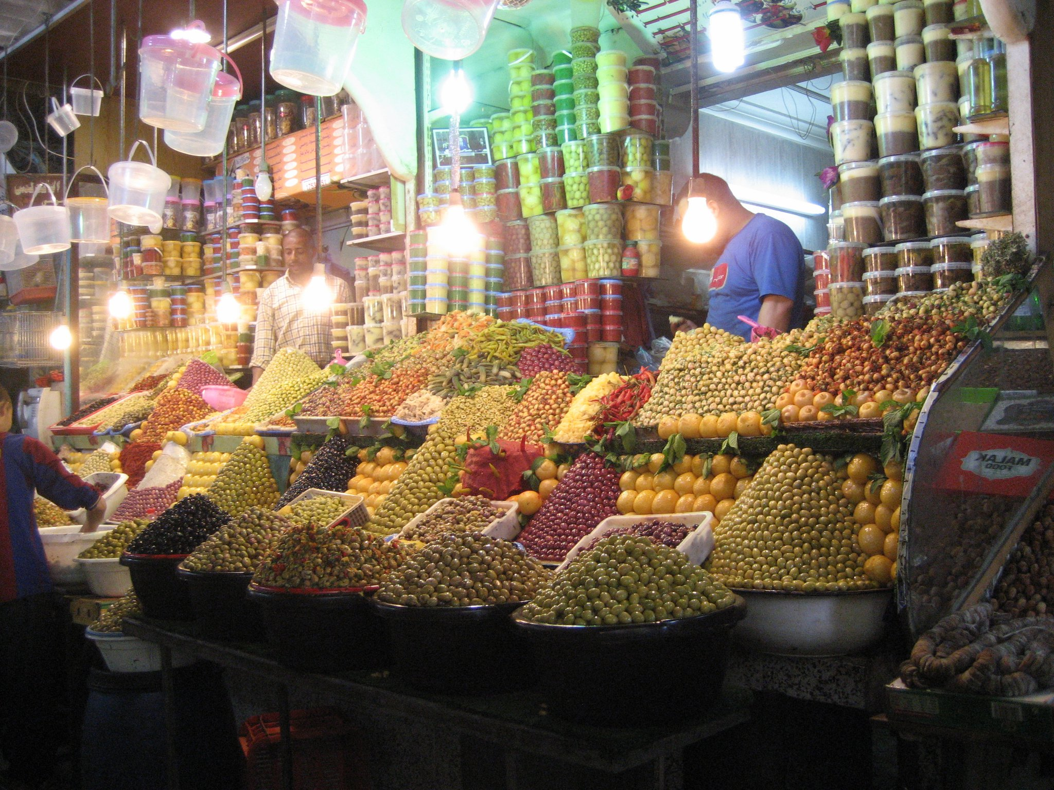 selling olives in Morocco